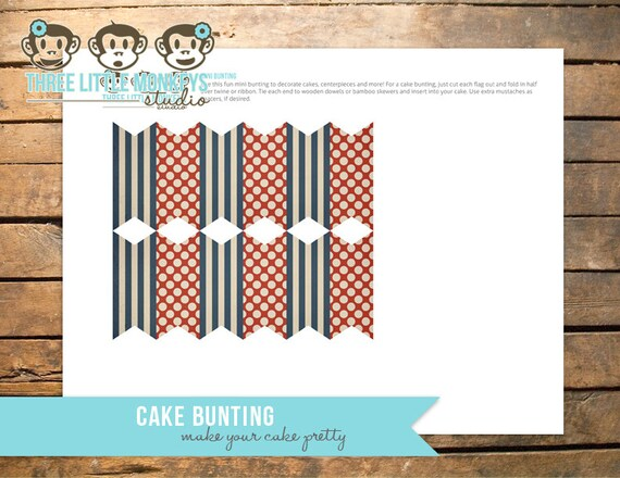 Vintage Train Cake Bunting or Banner, Food Flags or Party Decor