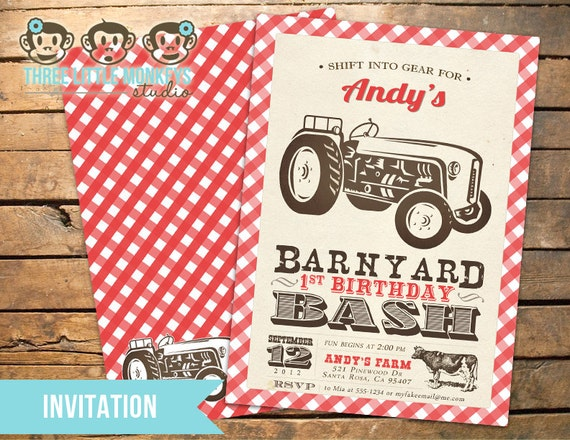 Bash Invitations Barnyard Bash Invitation