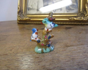 Birds in a Tree figurine Made in Occupied Japan.