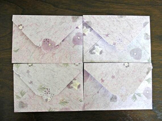 Pansy Mini Envelope Set of 4