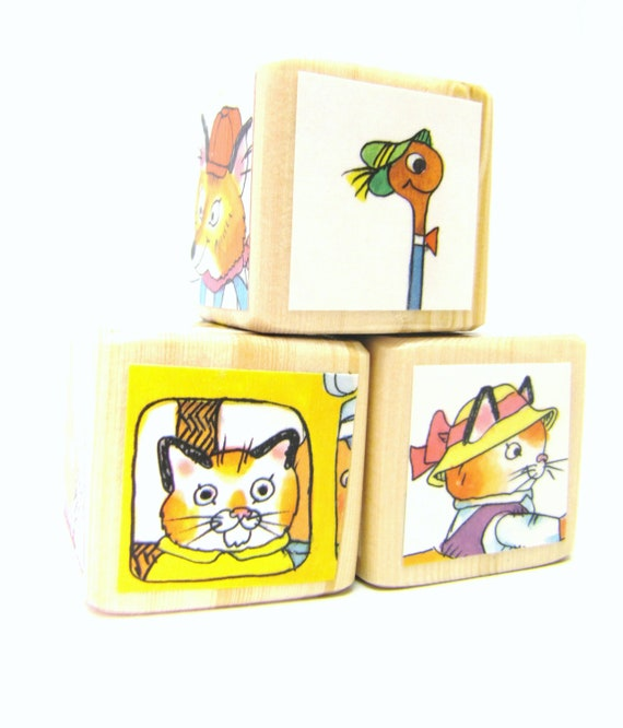 Toy Blocks Richard Scarry Baby Shower Decoration by MiaBooo