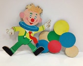 Dolly Toy Nursery Wall Hanging Clown and Balloons