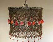 Anat Bon's Lighting - Dangling Tea Rose Lighting