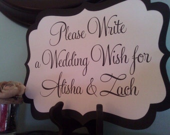 Please Write a Wedding Wish Sign - Custom Sign Available in 3 Sizes