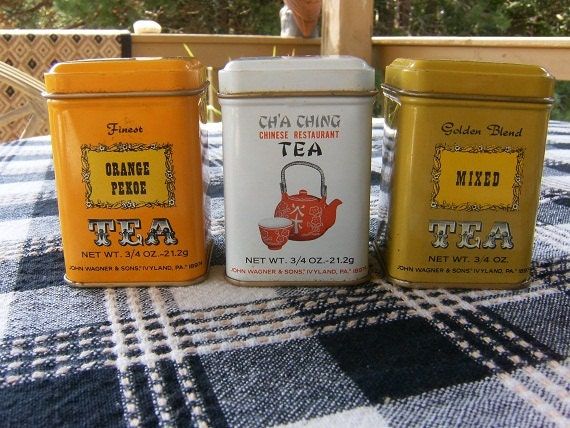 John Wagner & Sons Tea Tins