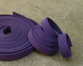 5 Yds(450 cm or 15Ft) Dark Violet -5 of 900X10mm Faux Suede Lace Straps(FS10-20_