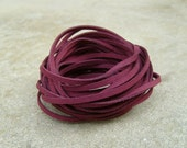 10Yds (900cm or 30Ft)-  Burgundy Faux Suede Cord, Lace (FS3-34)