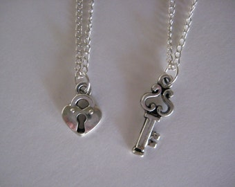 Lock and Key Necklaces friendship charms