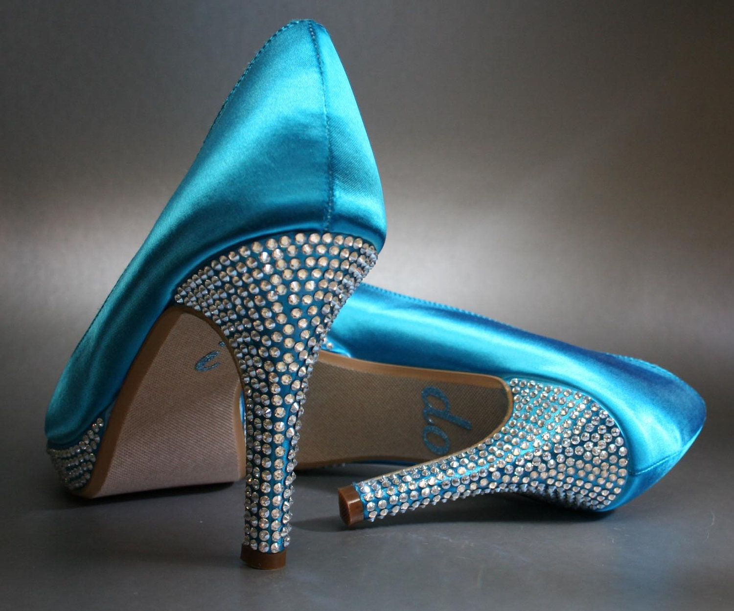 Turquoise Wedding Heels: Unavailable Listing On Etsy