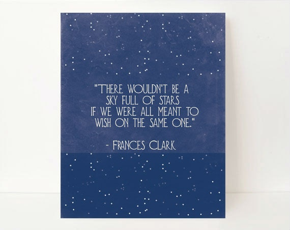 Star Wall Art star wall art inspirational quote galaxy art quote prints