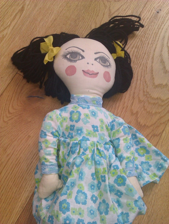 RESERVED Jenny Brewer - Vintage Handmade Rag Doll, possibly 1960s or 1970s
