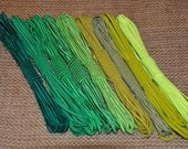 Jewelry making Soutache 3mm - GREEN COLORS PALETTE - 5 meters each - choose your color
