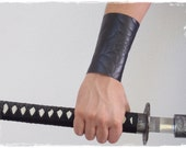 Black Soft Leather Arm Guard, Gothic Fantasy Drow Bracer, Goth Leather Brace With Spider Web Design, Dark Elf Leather Brace, Assassin Bracer