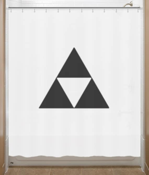 legend of zelda shower curtain triforce bathroom by