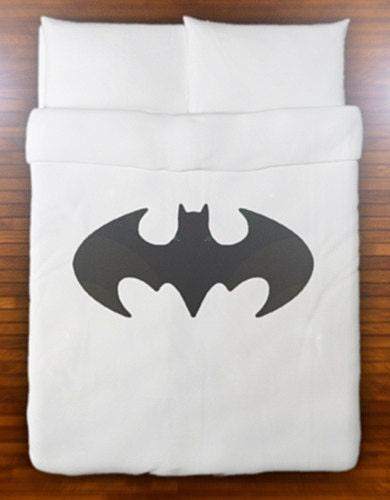 batman duvet cover bedding retro bat logo sign queen king twin. Black Bedroom Furniture Sets. Home Design Ideas