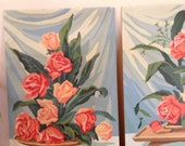 Mid Century Paint by Numbers -Flowers in Vase