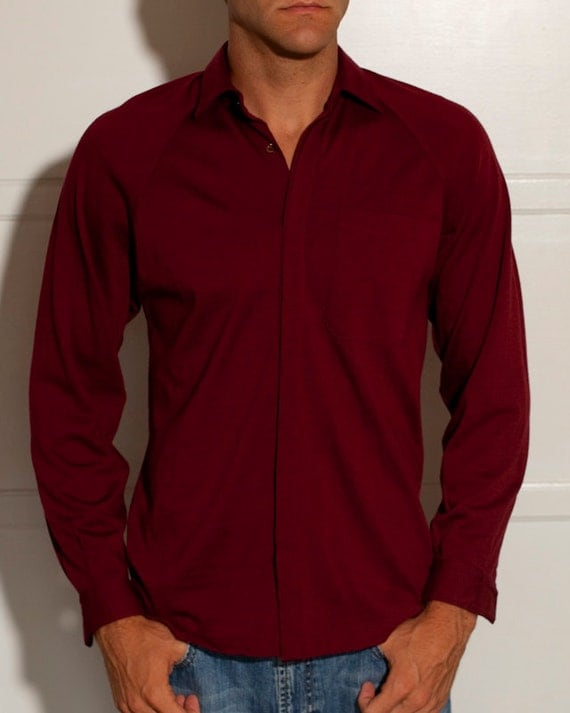 Hip Men's Button Up - Wool Shirt - Made in Italy - MR GUY - M