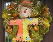 Deco Mesh FALL HAPPY SCARECROW Wreath