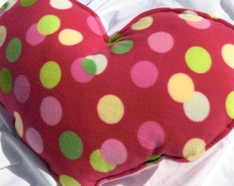Weighted  Heart  Pillow  - 4 pounds- READY TO SHIP