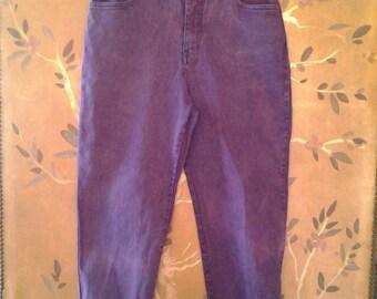 80s High waist purple Gloria Vanderbilt trousers