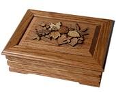 Jewelry Keepsake Treasure box made in Red Oak