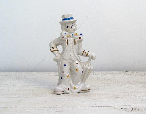 Vintage Clown Figurine, Porcelain clown