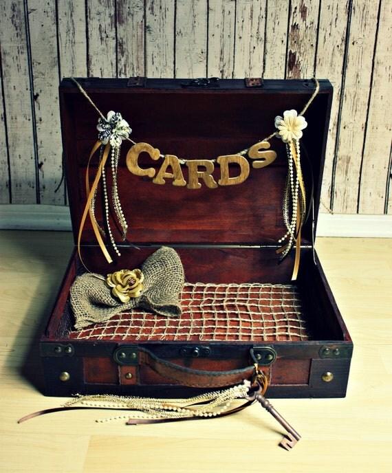 Wedding Card Holder-Wedding Card Box-Trunk-Suitcase-Wood trunk-Wedding Card Box and card sign