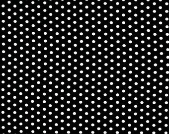 Spot On Black Mini Dots From Robert Kaufman