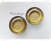 Enlarge Gold Brown painted color eyechip custom by poonchaya (Human Eye Collection)
