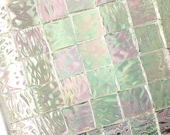 "3/4"" OR 1"" IRIDIZED ""ICE"" Textured Granite Stained Glass Tile i-1"