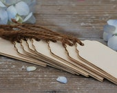 8 Rustic Wood Gift Favor Tags With Jute Ties For Wedding, Escort Cards, Place Cards, Favors, Gifts, Etc