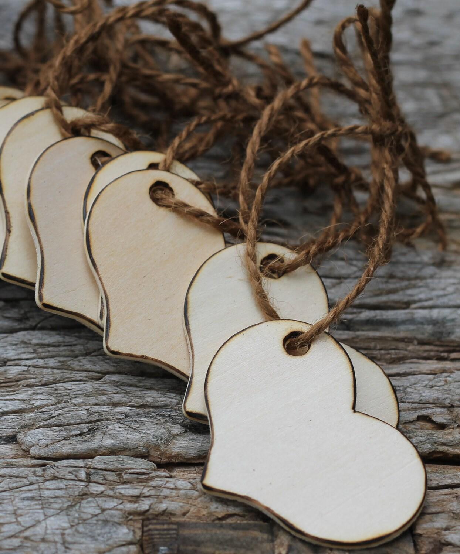 Segnaposto Matrimonio In Legno : Rustic wedding tags wishing tree wood by