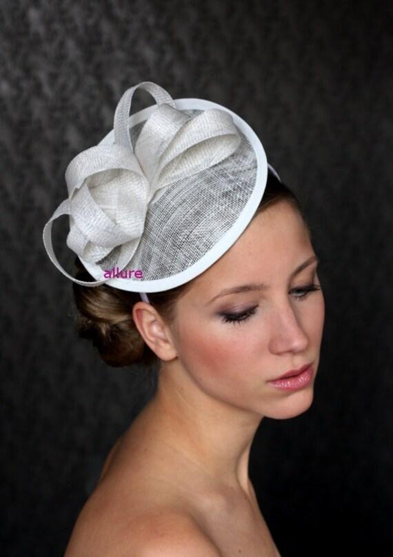 Items similar to Bridal Hair Fascinator, Bridal Hat, Wedding Hair ...