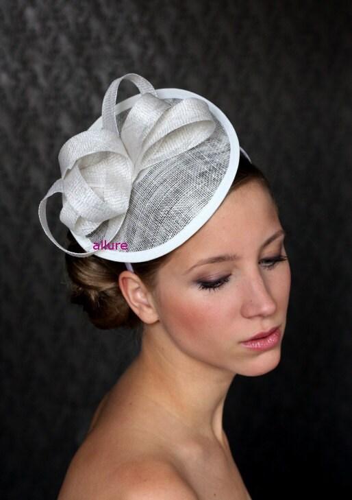 Wedding Hats For Short Hair: Bridal Hair Fascinator Bridal Hat Wedding Hair By Klaxonek