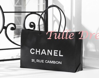Famous Paris Chanel Address on Balcony Glossy Black and White Photograph (various sizes)