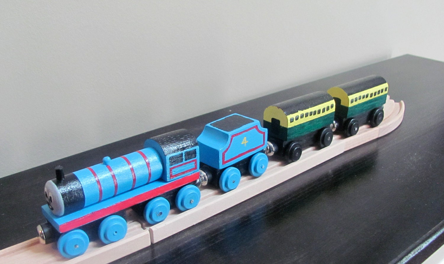 Handmade Wooden Toy Train-Gordon Train with by JLKOriginals