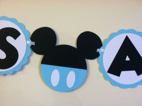 Mickey mouse baby shower banner its a boy ready to by for Baby mickey decoration ideas