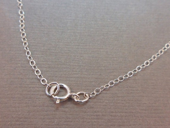 """Chain Finished Necklace Sterling Silver .925 Cable Chain Spring Clasp 1.3mm 18"""""""