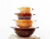 Pyrex Woodland Cinderella Bowls, Complete Set of 4