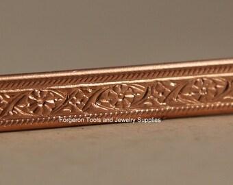 Copper Bracelet Pattern Wire - Mini Floral 1 Ft  - Make Rings Bracelets or Earrings - Embellish Jewelry Designs -