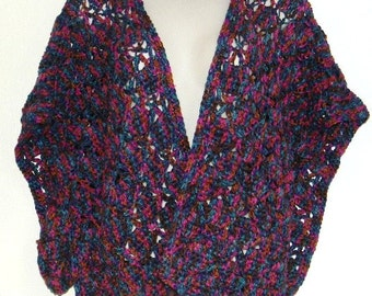 Crochet Wrap -- Jewel Tones