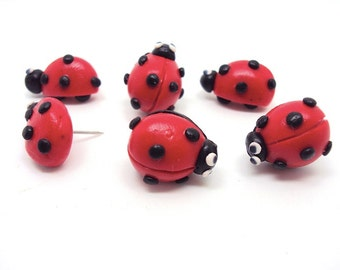 Lady Bug Thumbtacks for your Memo Board