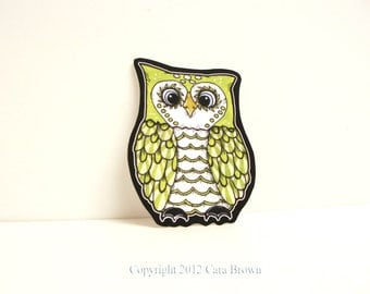 Owl Car Window Sticker Vinyl Decal you choose color medium child size
