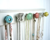 Necklace Display Jewelry Rack with Pastel Knobs