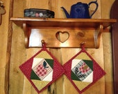 1 pair of country potholders