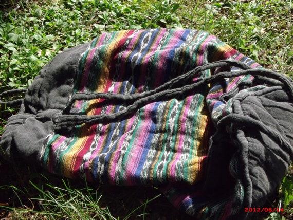 25 % off Vintage Guatemalan Ikat Bag with straps 100 Percent Cotton Southwest Design