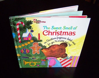 Vintage Christmas Scratch N Sniff Book - The Sweet Smell of Christmas - 1970