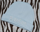 Personalized Infant / Baby Hat / Beanie Monogrammed  Baby Boy / Girl Coming Home Outfit Baby Blue