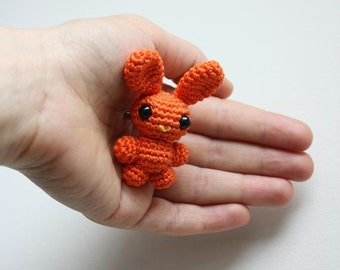 PATTERN - Chibi Bunny Brooch - Crochet Amigurumi Pattern - Bunny Crochet PDF Tutorial - Digital Download - Printable - In English