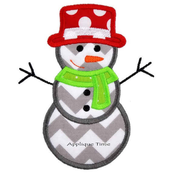 Instant download snowman machine embroidery by appliquetime